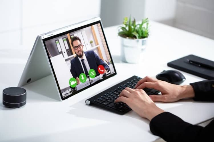 Photo: Estate planning video conference